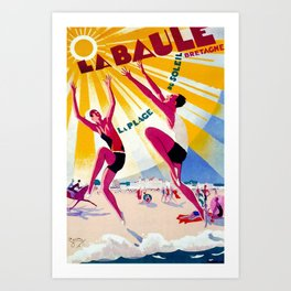 La Bule Bretagne Travel Poster Art Print