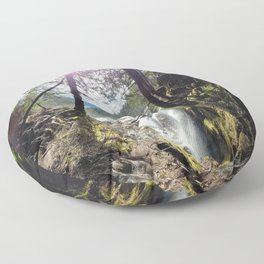 Miracles of mountains Floor Pillow
