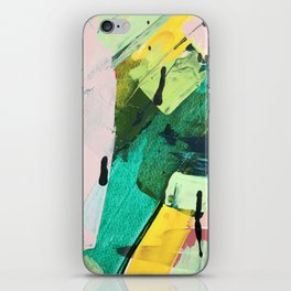 Hopeful[4] - a bright mixed media abstract piece iPhone Skin