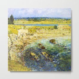 Classical Masterpiece 'Bailey's Beach, Newport, Rhode Island' by Frederick Childe Hassam Metal Print