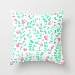 Floral Nature Throw Pillow