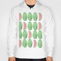 watermelon Hoodies featuring Watermelon by Alexis Gonopolsky