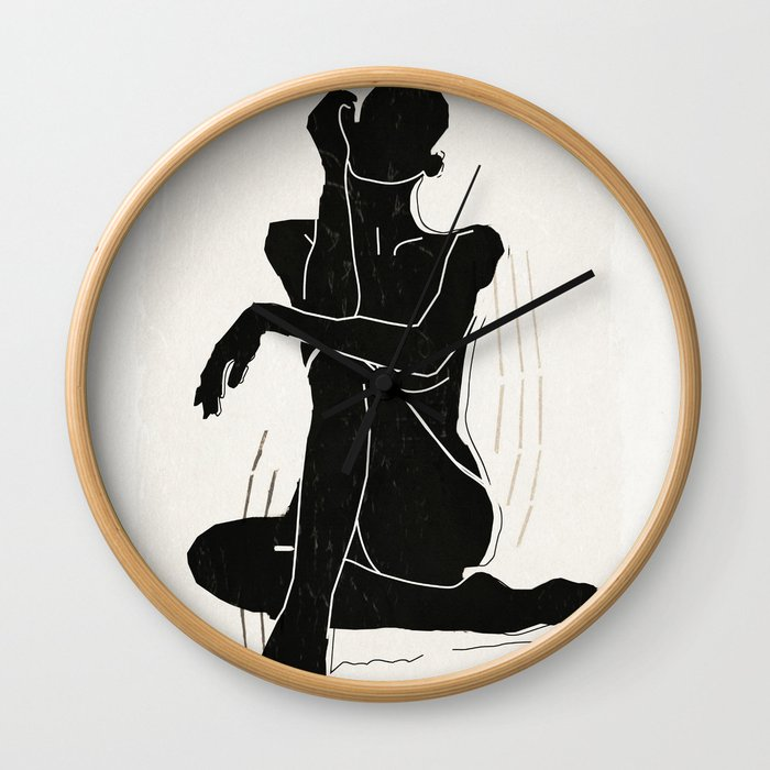 Nude woman 3 Wall Clock