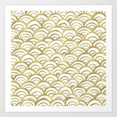 Gold Scallop Art Print