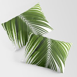 Palm Leaves Green Vibes #10 #tropical #decor #art #society6 Pillow Sham