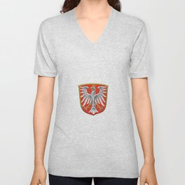 Flag of Frankfurt am Main Unisex V-Neck
