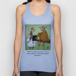Thanksgiving Turkey Hernia Humor Unisex Tank Top