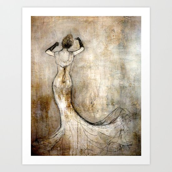 dancing with myself Art Print