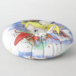 Alice's Adventure in Wonderland Floor Pillow