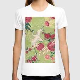Japanese Birds and Flowers Garden T-shirt