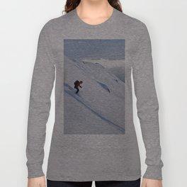 Skiers at Hatcher Pass (2) Long Sleeve T-shirt
