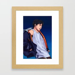 Dancing Jungkook Framed Art Print