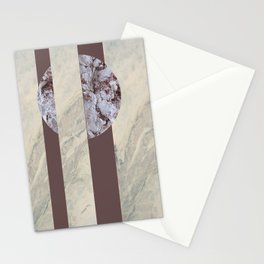 geometric marble Stationery Cards