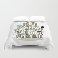 barcelona Duvet Covers featuring Barcelona by Jaume Tenes