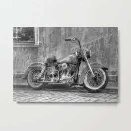 American Classic in Mono Metal Print