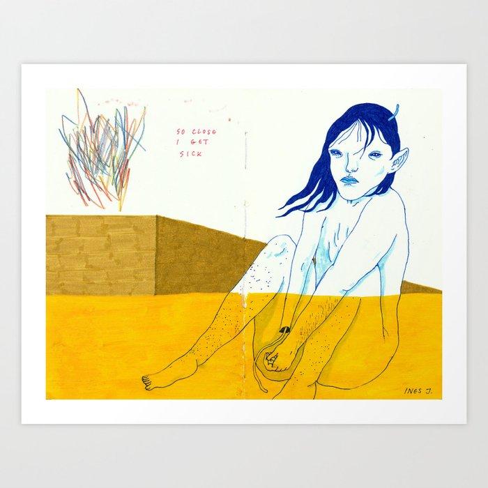 healthy distance Art Print