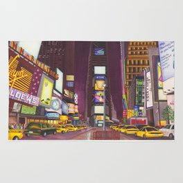 """""""Times Square at Night"""" Rug"""
