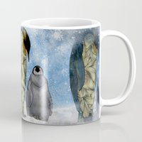 technology Mugs featuring Emperor Penguins by Ben Geiger