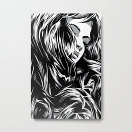RZP Girl Metal Print