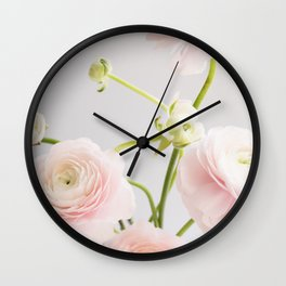 Floral and Vintage Ranunculus Wall Clock