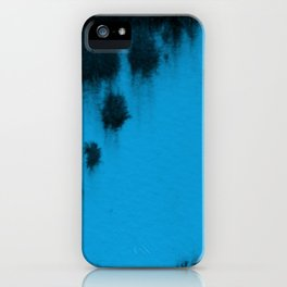 Turquoise blur iPhone Case