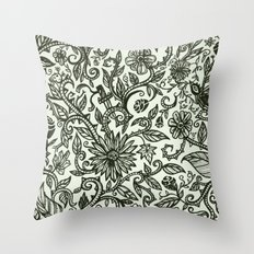 Garden of Relief and Affliction Throw Pillow