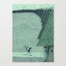 'The Field By The Forest' (Colour) Canvas Print