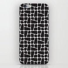 Mid Century BW tile pattern iPhone & iPod Skin