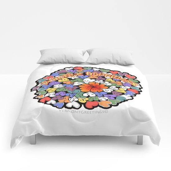 Zentangle Practice Happiness Illustration Comforters