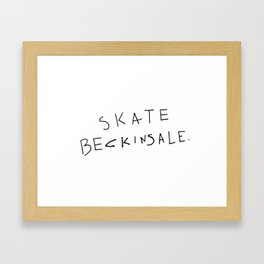 Skate Beckinsale Framed Art Print