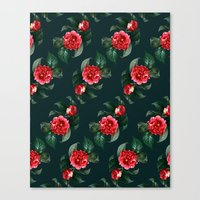 floral pattern Canvas Prints featuring Floral Pattern by Heart of Hearts Designs