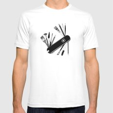 Art Almighty X-LARGE White Mens Fitted Tee