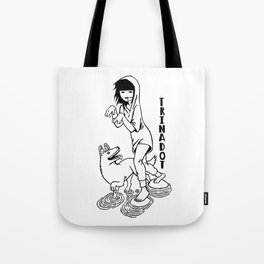 Trinadot Bea and Dog Tote Bag