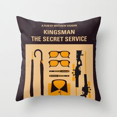 No758 My Kingsman minimal movie poster Throw Pillow