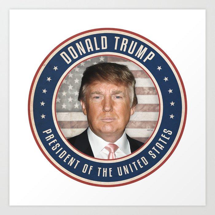 Vote Donald Trump President Art Print