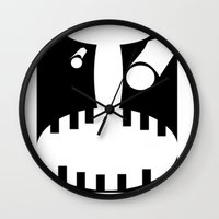 pain Wall Clocks featuring Pain by jacomus