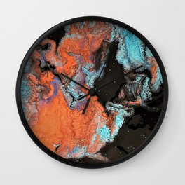 Earthly Abstract Wall Clock
