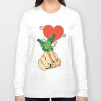 shinee Long Sleeve T-shirts featuring SHINee - Punch, Drunk, Love (White) by Jelly KJar