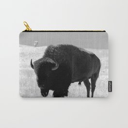 Bison On Open Range Carry-All Pouch