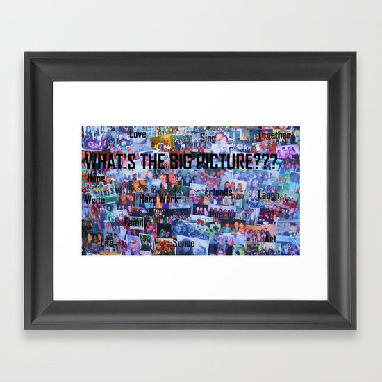 What's the Big Picture? Framed Art Print