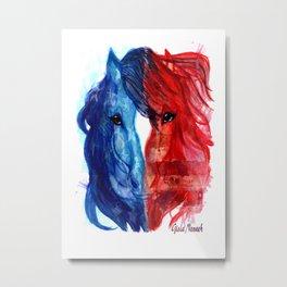 Patriotic Mustang Metal Print