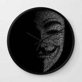 V per Vendetta Guy Fawkes Wall Clock
