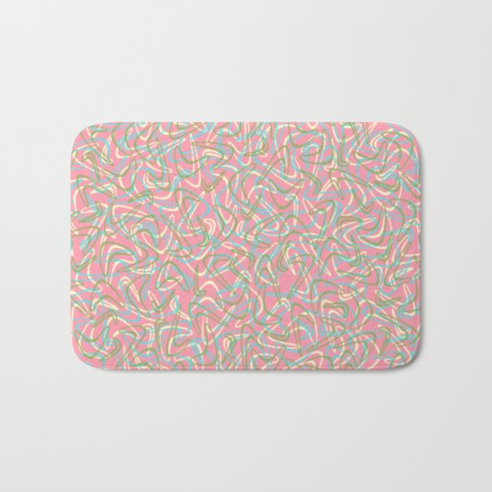 Boomerang Pink Bath Mat