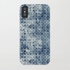 Grungy Teal Circles Slim Case iPhone X