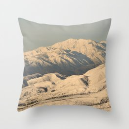 Winter Snow in the Mountains Throw Pillow