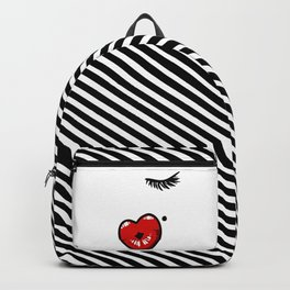 Pucker Kissy Glamour Lips Backpack