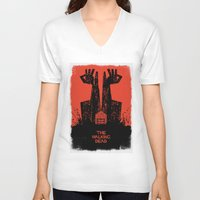 the walking dead V-neck T-shirts featuring The Walking Dead. by David