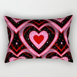Heavenly Hearts - Happy Valentines Day Rectangular Pillow