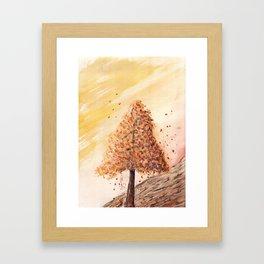 Autumn Tree Landscape Framed Art Print