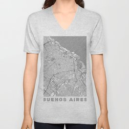 Buenos Aires Map Line Unisex V-Neck